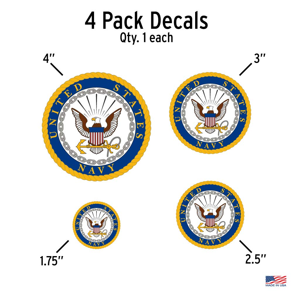 Officially Licensed U.S Large 5.5 US Military Sticker for Truck or Car Windows Marine Corps Decal Large Military Car Decals Military Collection