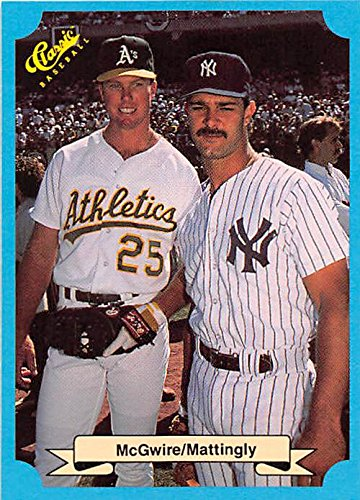 Don Mattingly And Mark Mcgwire Baseball Card Yankees Athletics