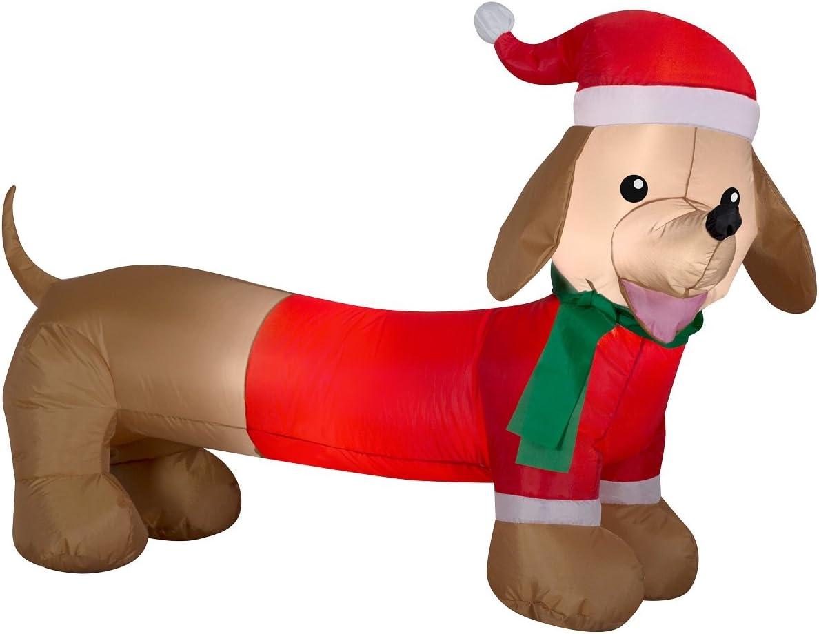 Amazon Com Dachshund Weiner Dog Air Blown Inflatable Outdoor Christmas Holiday Decoration 4 Feet Wide Garden Outdoor