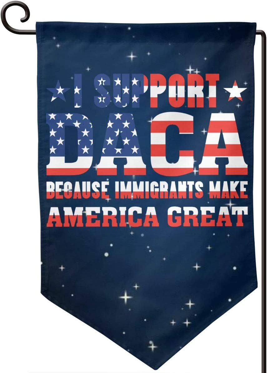 GAJAJAYZXN Immigrants Make America Great Garden Flag 12.5 X 18 Inch, Family Outside Yard Decoration Flag