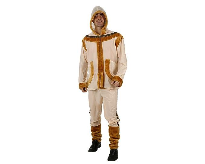 8617175de3 Costume Nanuk l' Eschimese Adulto. Costumi Carnevale Uomo: Amazon.it ...