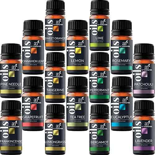 ArtNaturals Aromatherapy Top-16 Essential Oil Set - (16x10ml) - Pure of the Highest Therapeutic Grade Quality - Premium Edition Sampler Gift Set