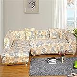 RUGAI-UE Sofa Slipcover elastic sofa set sofa cover non slip full cover old sofa cushion cloth art sofa towel,Three person 190--230CM,Interesting space
