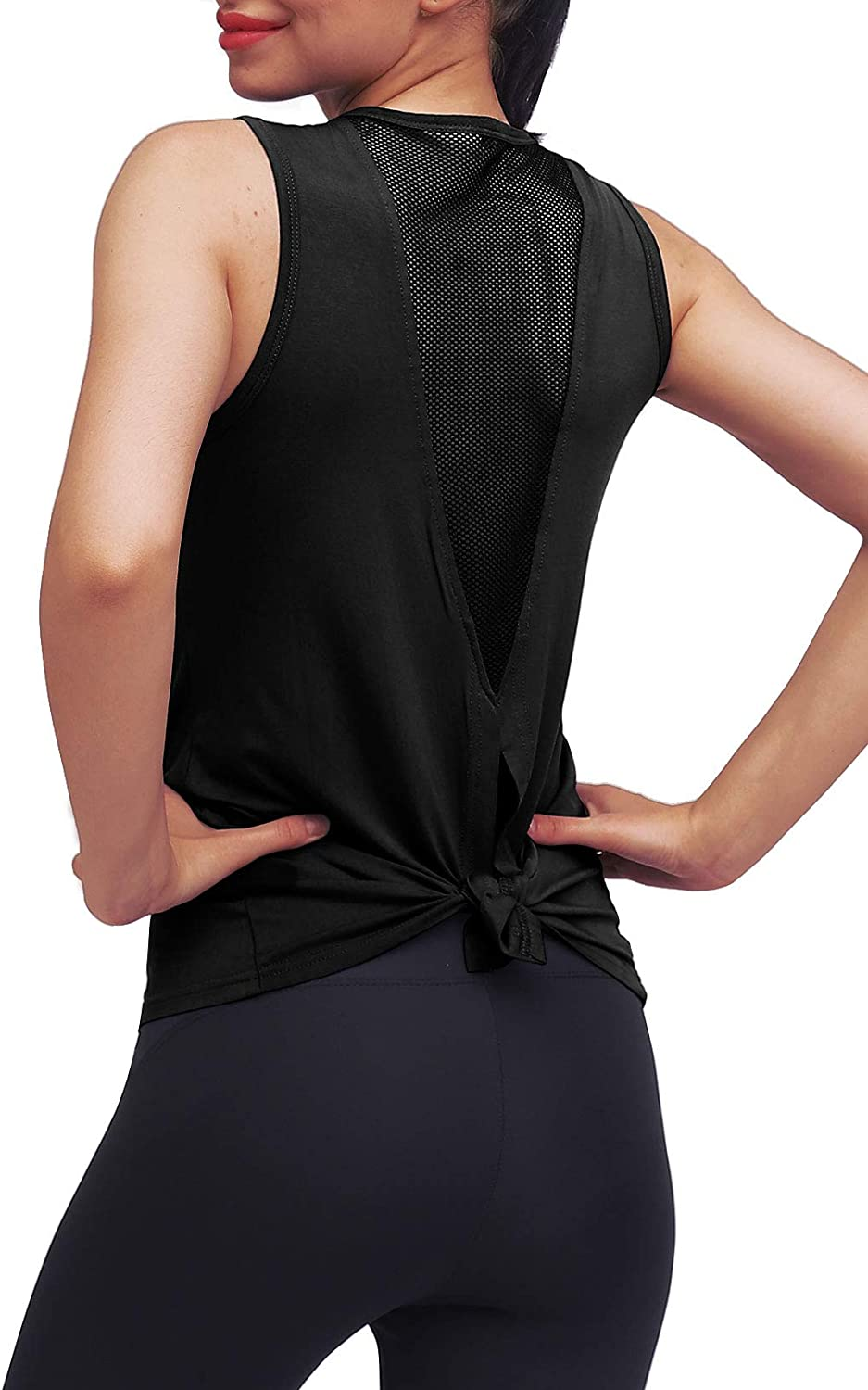 Mippo Workout Tops for Women Workout Yoga Shirts Muscle Tank Athletic Running Tank Tops: Clothing
