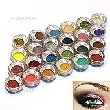 USA Seller 24 Warm Smoked Metals Color Glitter Shimmer Pearl Loose Eyeshadow Eyeliner