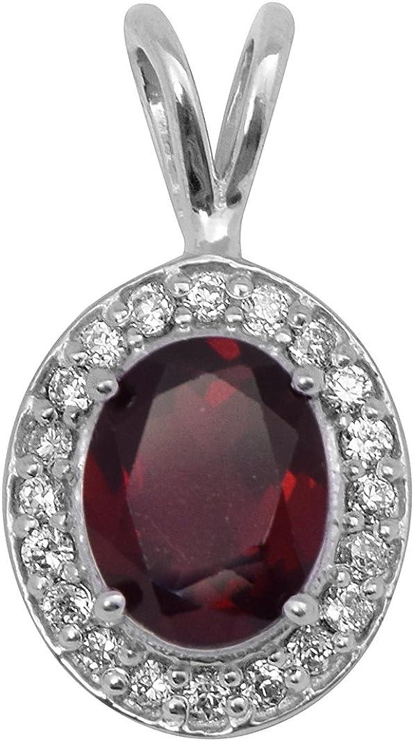 Shine Jewel Brillante joya granate y topacio blanco piedra preciosa 925 colgante de joyería de plata esterlina para mujer topacio blanco