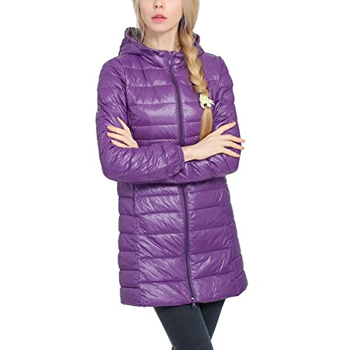iBaste Donne guaina giacca invernale cappotto invernale Steppmantel giacca con cappuccio outwear