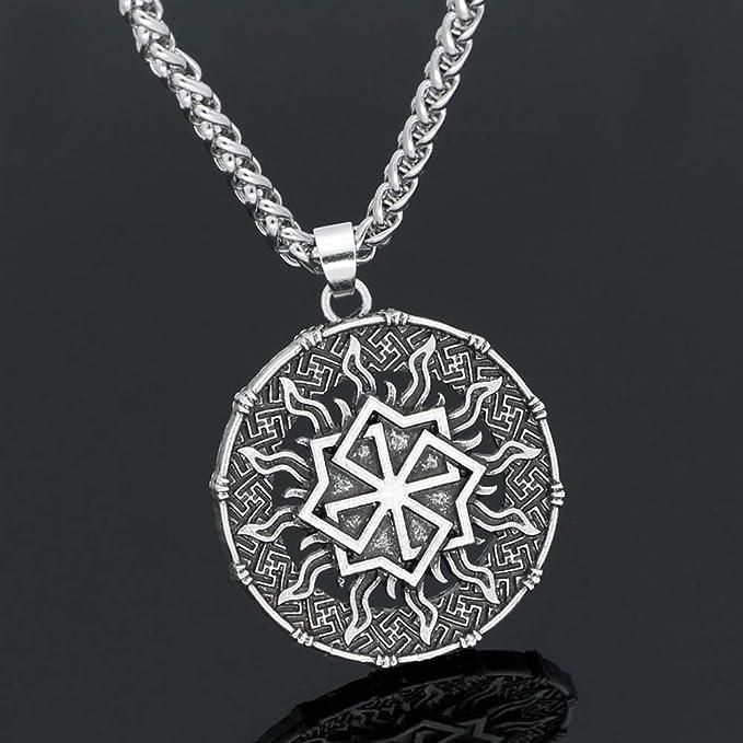 Skyrim Vintage Kreuz nordischen schwedischen Folklore Amulett Anh/änger mit Verstellbarer Kette Halskette f/ür Damen und Herren