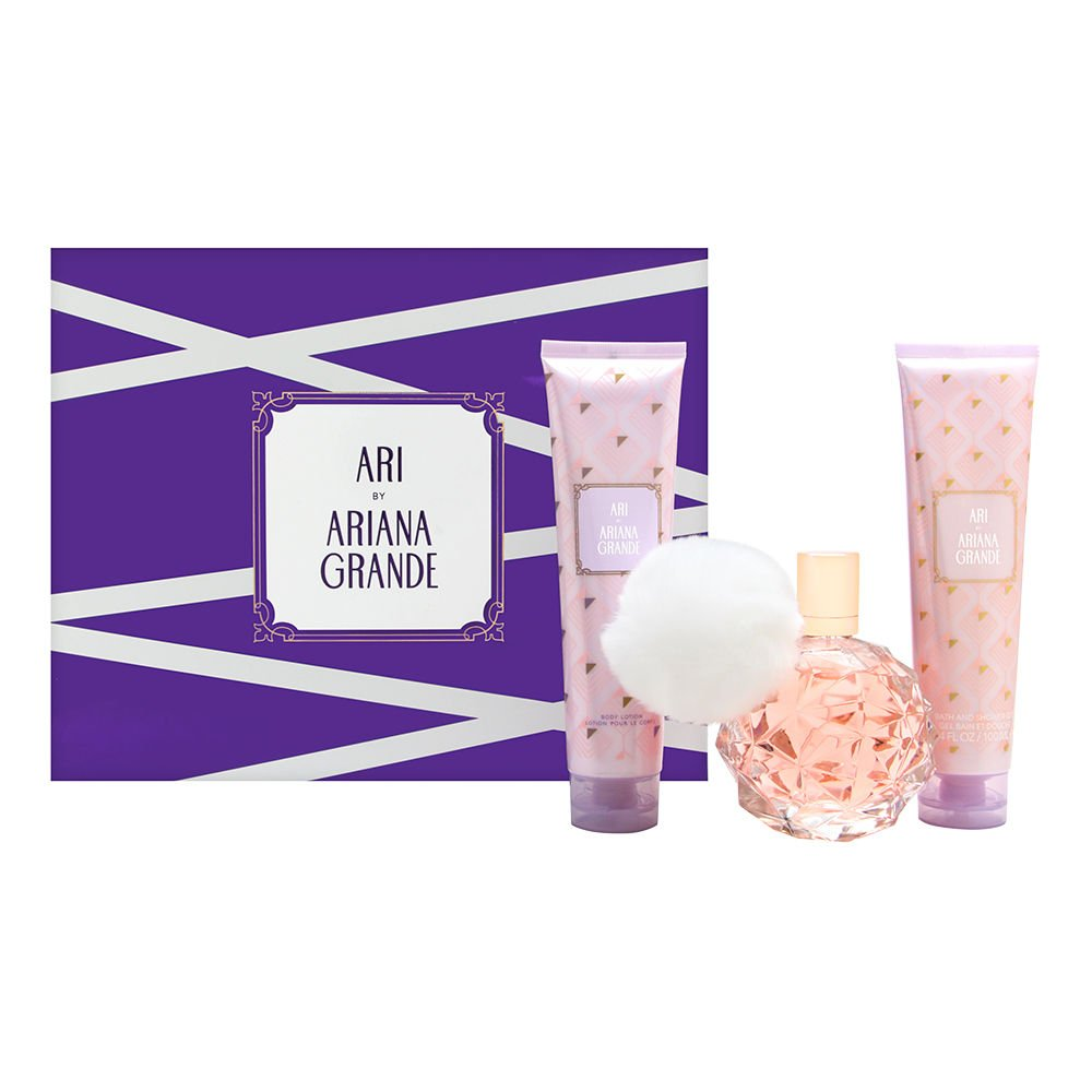 Ariana Grande Ari By Ariana Grande 3 Piece Gift Set - 3.4 Oz Eau De Parfum Spray, 3.4 Oz Body Lotion, 3.4 Oz Bath And Sh
