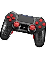 King-Controller PS4 Controller mit Curved Paddles und Custom Design GetOnMyLVL - MontanaBlack (schwarz, rot) - DualShock 4 - PlayStation 4 Pro Slim - Wireless PS4-Controller