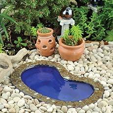 Easy Backyard Pond Ideas small garden ponds backyard pond ideas Janit Calvos Kidney Shape Miniature Fairy Garden Garden Pond Small 55 L