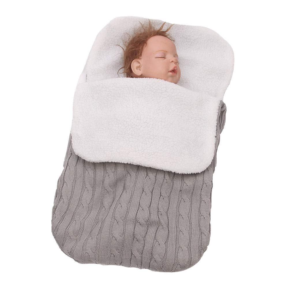 Neugeborenes Baby Gestrickt Wickeln Swaddle Decke,Schlafsack ...