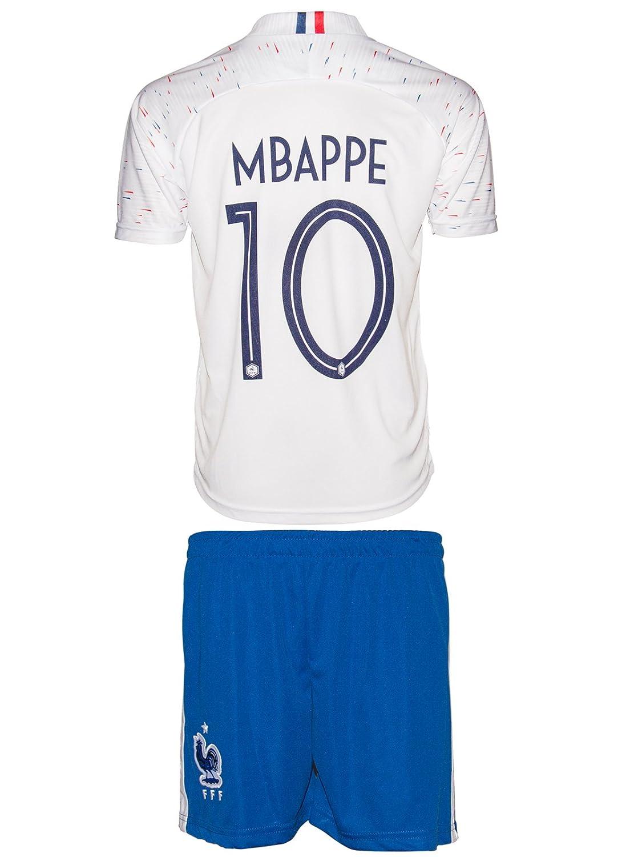 Frankreich Weltmeisterschaft WM18 # 7 Griezmann & # 10 Mbappe – Kinder Trikot und Hose