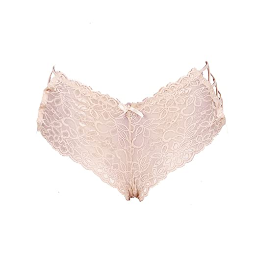 37262503108 Oliveya Womens Plus Size Nude Lace Underwear Bow-Tie Panties Bikinis  Lingerie XL at Amazon Women s Clothing store