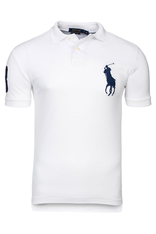 Polo Ralph Lauren Slim FIT - color blanco - 100% algodón (XL ...