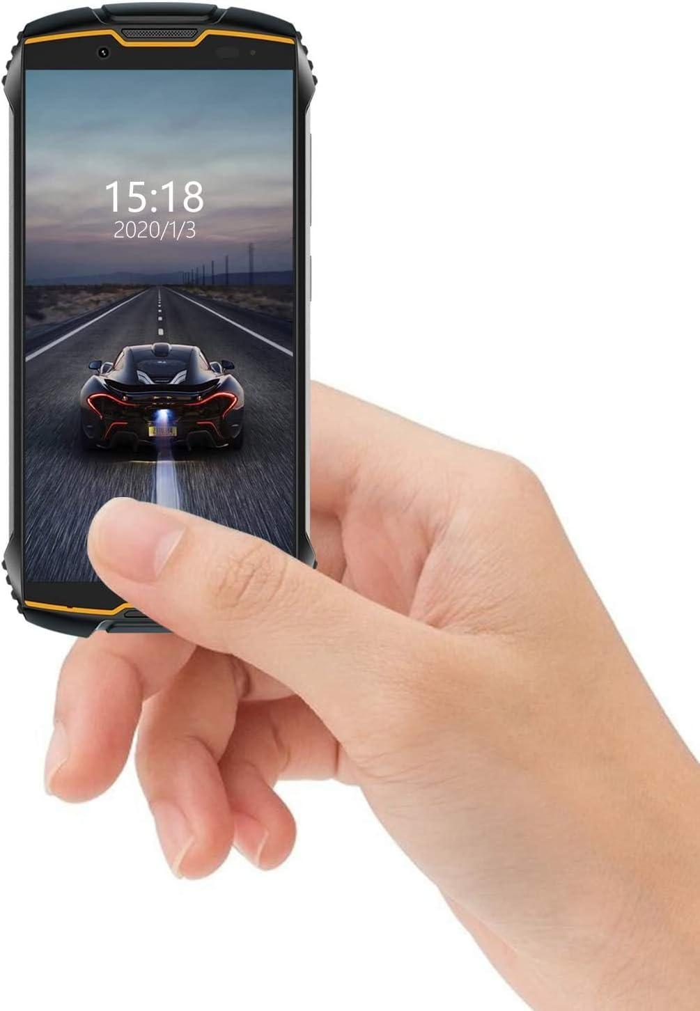 CUBOT King Kong Mini 4G teléfono IP68 Móvil Libre Impermeable Smartphone 4.0 Pulgadas Android 9.0 Dual SIM Quad-Core 13,0MP Cámara 3GB+32GB Quad-Core Amarillo, Naranja