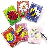 Lot de 12 Mini Carnets de Note Parfumés - Idéal comme cadeau de pochette surprise