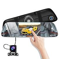 Dual kamera Auto Rückspiegel 5,5 Zoll Touchscreen Dashcam Full HD 1080p Autokamera mit 720p IP67 Rückfahrkamera ,170°Weitwinkel Vorne und 120°Hinten und 6 Hauptfunktionen inkl.AZDOME 2 Port Kfz Ladegerät(PG01)--Unterstützt GPS Modul
