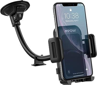 Mpow [Versión actualizada] Porta móvil de Coche, Soporte Smartphone para Coche para Parabrisas, Ajustable a 360 Grados y Antideslizante, Porta móvil para Smartphone y Dispositivos GPS: Amazon.es: Electrónica