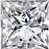 GIA Certified Princess-Cut Natural Loose Diamond (1 - 2 Carat)