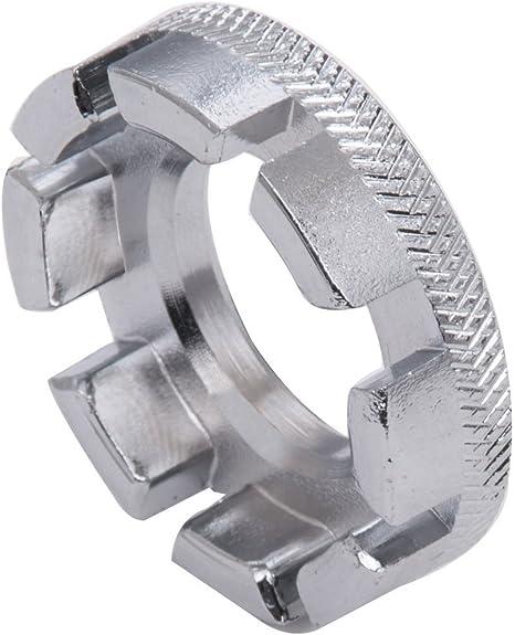 Sungpunet Llave de radios de rueda de bicicleta universal mini 8 vías herramienta de reparación de llave inglesa de llave de anillo de pezón: Amazon.es: Deportes y aire libre