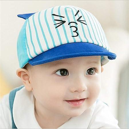 mlpnko Nueva Gorra de béisbol para niños Gorro de bebé Gorro de algodón para bebé Azul 44-49cm: Amazon.es: Hogar
