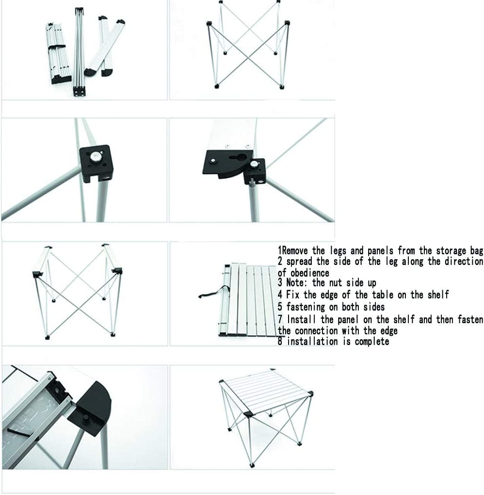 52x52x55cm Ultralight Aluminum Table Protable Table for BBQ//Picnic//Camping//Cooking//Work//Homework BETTY Tables Folding Camping Table