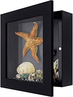 product image for Shadow Box Frame Display Case, 2-inch Depth, Great for Collages, Collections, Mementos (8x8, Black)