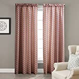 "IYUEGO Contemporary Warm Colors Overlapping Chevron Rod Pocket Top Lined Blackout Curtains Draperies With Multi Size Custom 50"" W x 84"" L (One Panel)"
