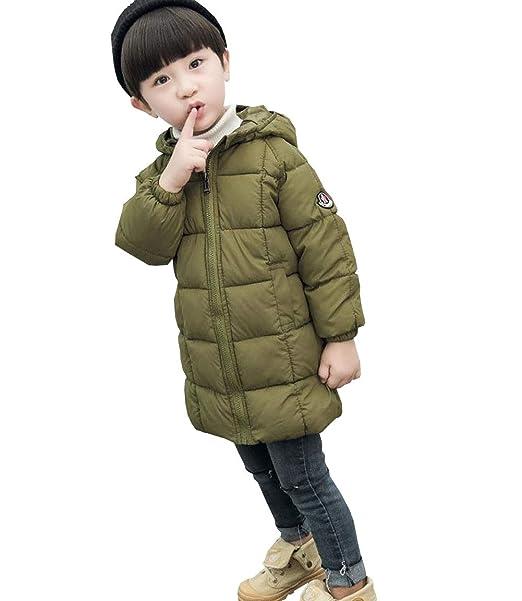 a38fb969e97a3 DuWei (ドゥウェイ) 子供服 中綿コート ロング丈 子供服 中綿ジャケット 男の子 女の子