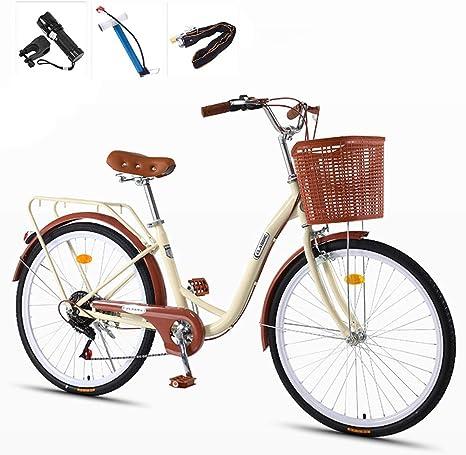GHH 7 Velocidad Bicicleta Summer para Mujer, 24