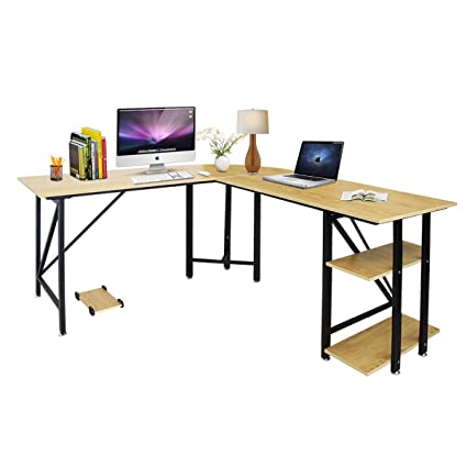 Bizzoelife - Mesa de esquina para ordenador de mesa de 67