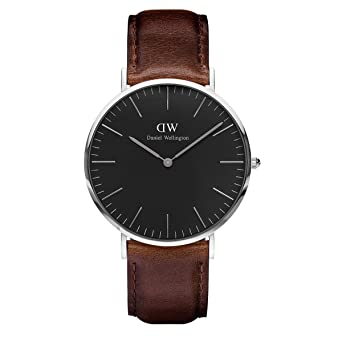 ab701eaee Image Unavailable. Image not available for. Color: Daniel Wellington  Classic Black Bristol 40mm