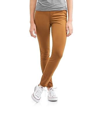 3c82d9cc35101 No Boundaries Women's Junior Size Jeggings Legging Pants (Caramel Brown, S  3-5) at Amazon Women's Clothing store: