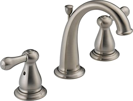 Delta 3575LF-SS Leland Two Handle Widespread Bathroom Faucet ...