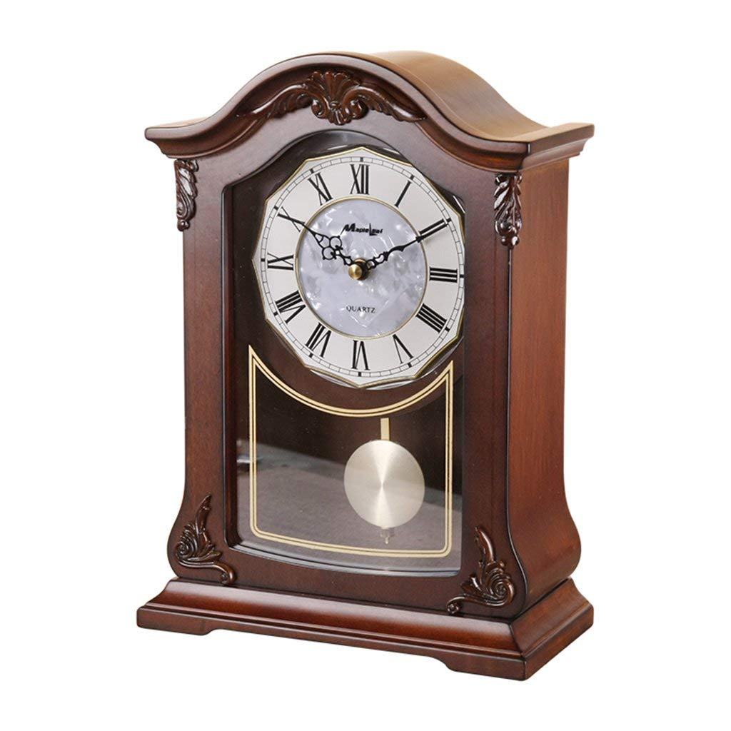 Amazon.com : Family Fireplace Clocks Wooden Table Clock, Modern Silent Bedroom Decorative Bedside Clock Suitable for Living Room Office Bedroom : Sports & ...