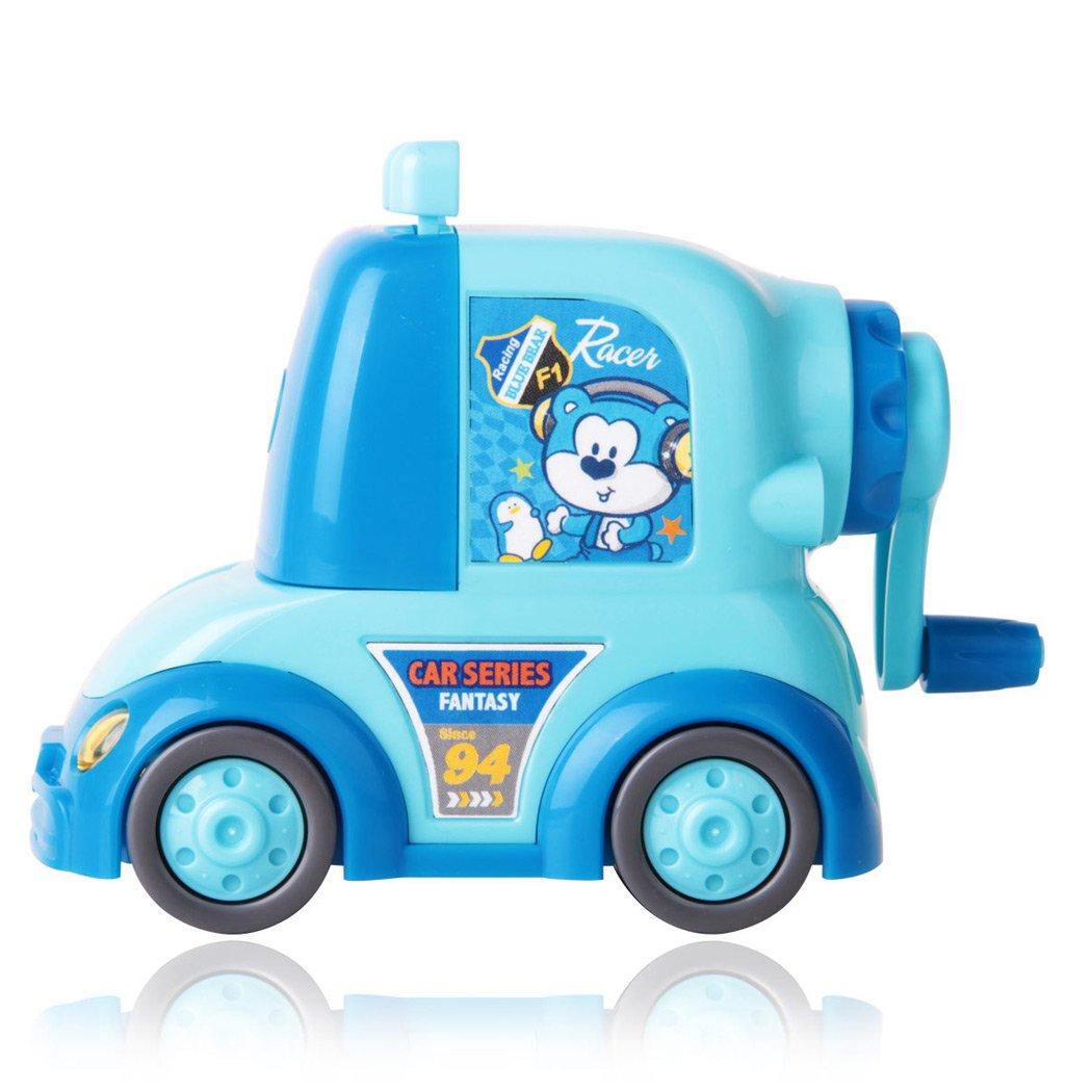 Sipliv Temperamatite a mano a manovella per auto compatta per scuola, casa, ufficio, studio - blu