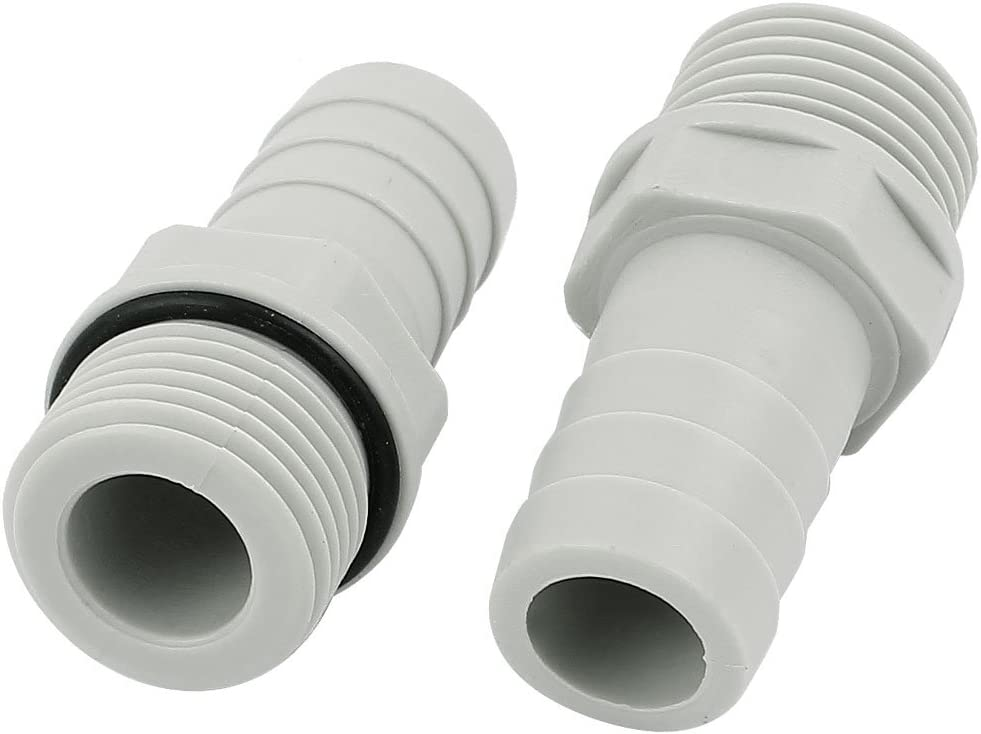 16mm Straight Plastic Barbed Connector Pipe Hose Joiner Tubing Air Fuel Water