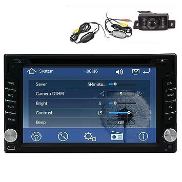 Wireless Backup Camera Gps Navigation Windows Ce 6 0 6 2 Inch Double In Dash Car Stereo Radio Auto Audio Video Automotive Cd Dvd Mp3 Player Bluetooth