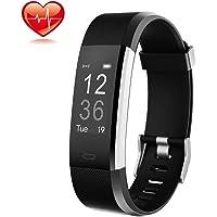Montre Connectée, ONSON Podometre : Connecté Cardiofrequencemetre Poignet Smartwatch Fitness Tracker d'Activité Femme Homme Enfant Sport Natation pour Android et iOS smartphones