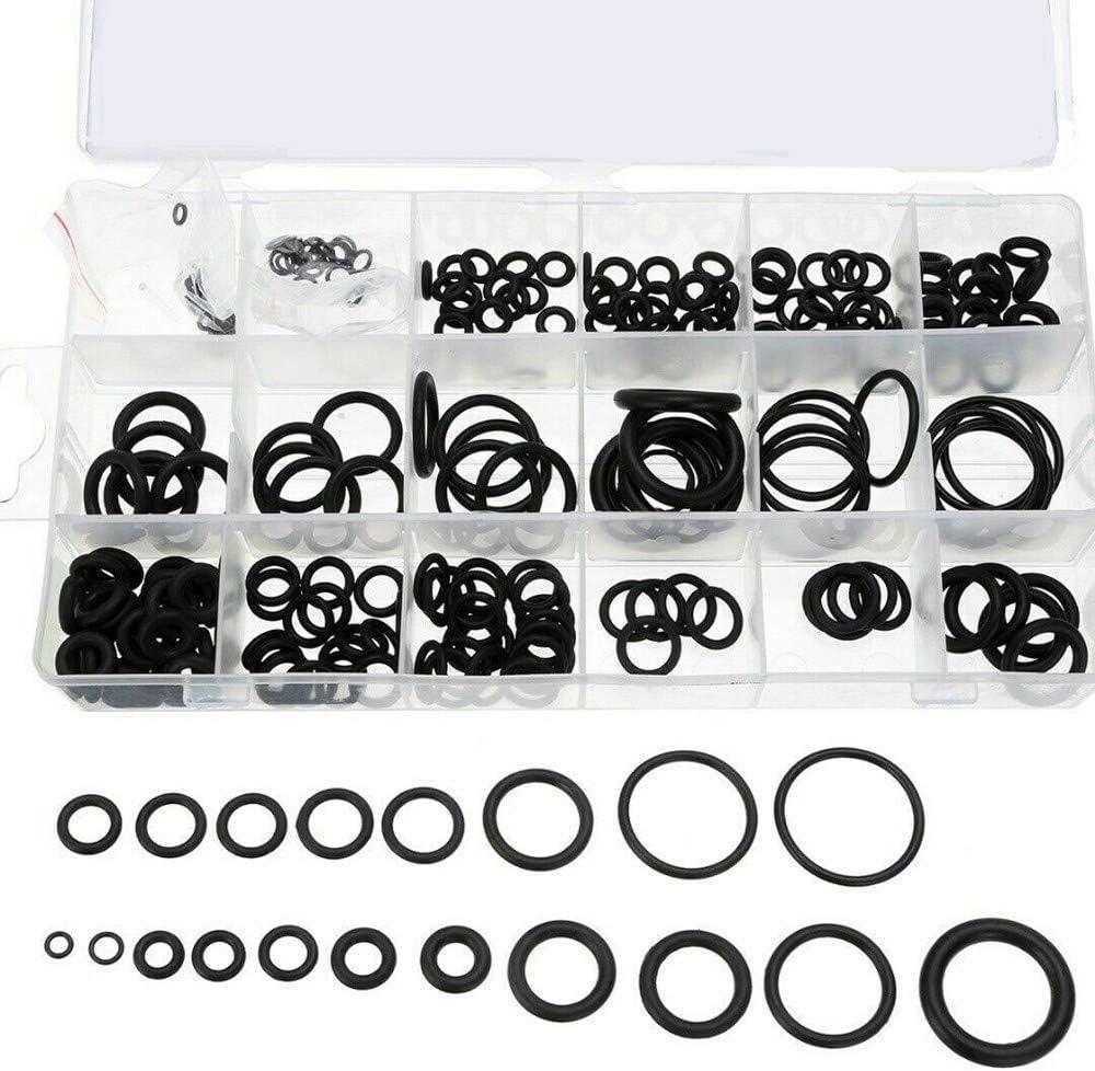 Gummidichtungen Automobil-Reparaturen Sortiment Sets f/ür elektrische Dichtungsringe f/ür Sanit/äranlagen 200 St/ück O-Ring-Sortiment Dichtungs-Set