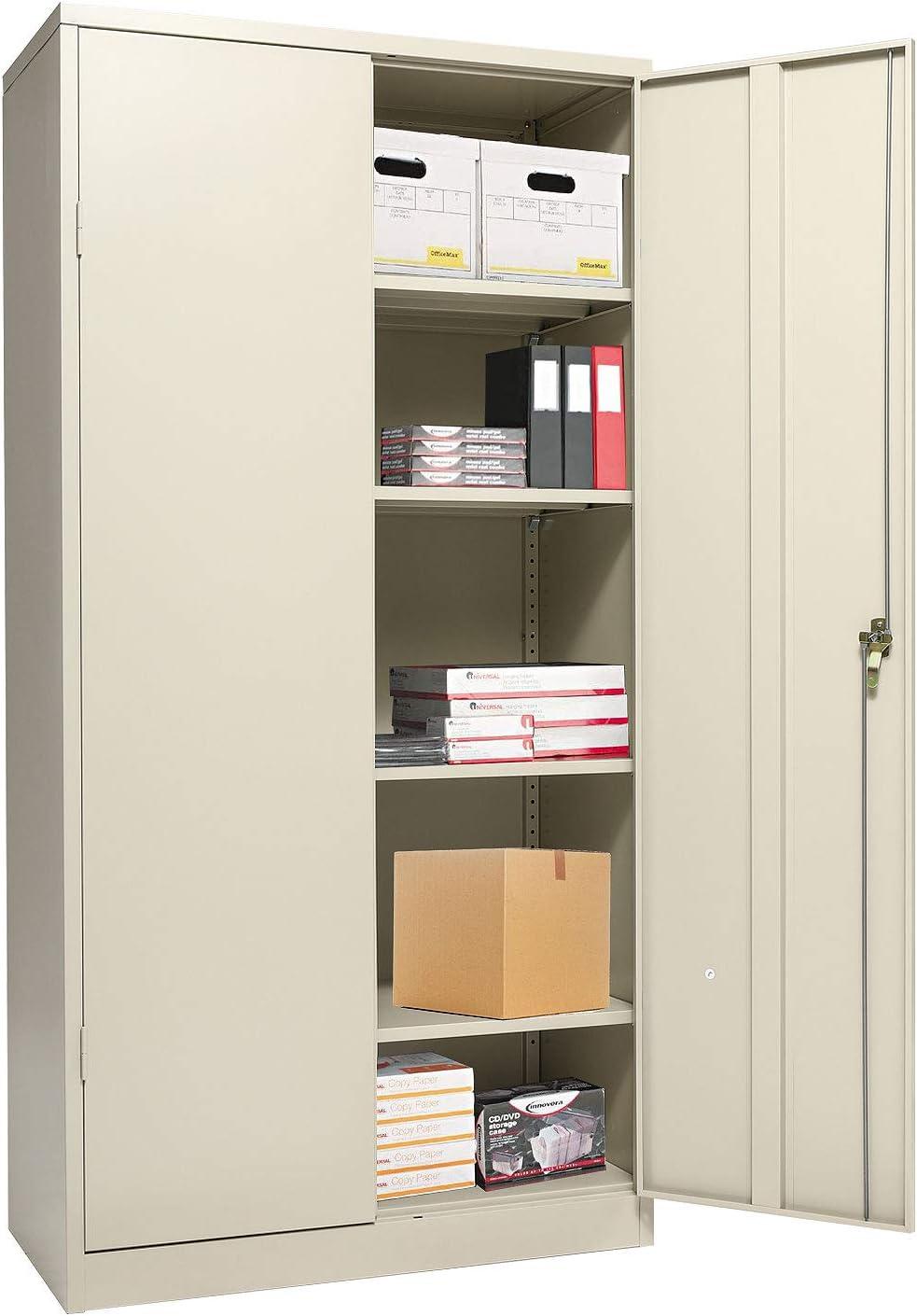 Metal Storage Cabinet with Locking Doors and 4 Adjustable Shelves, 72.05