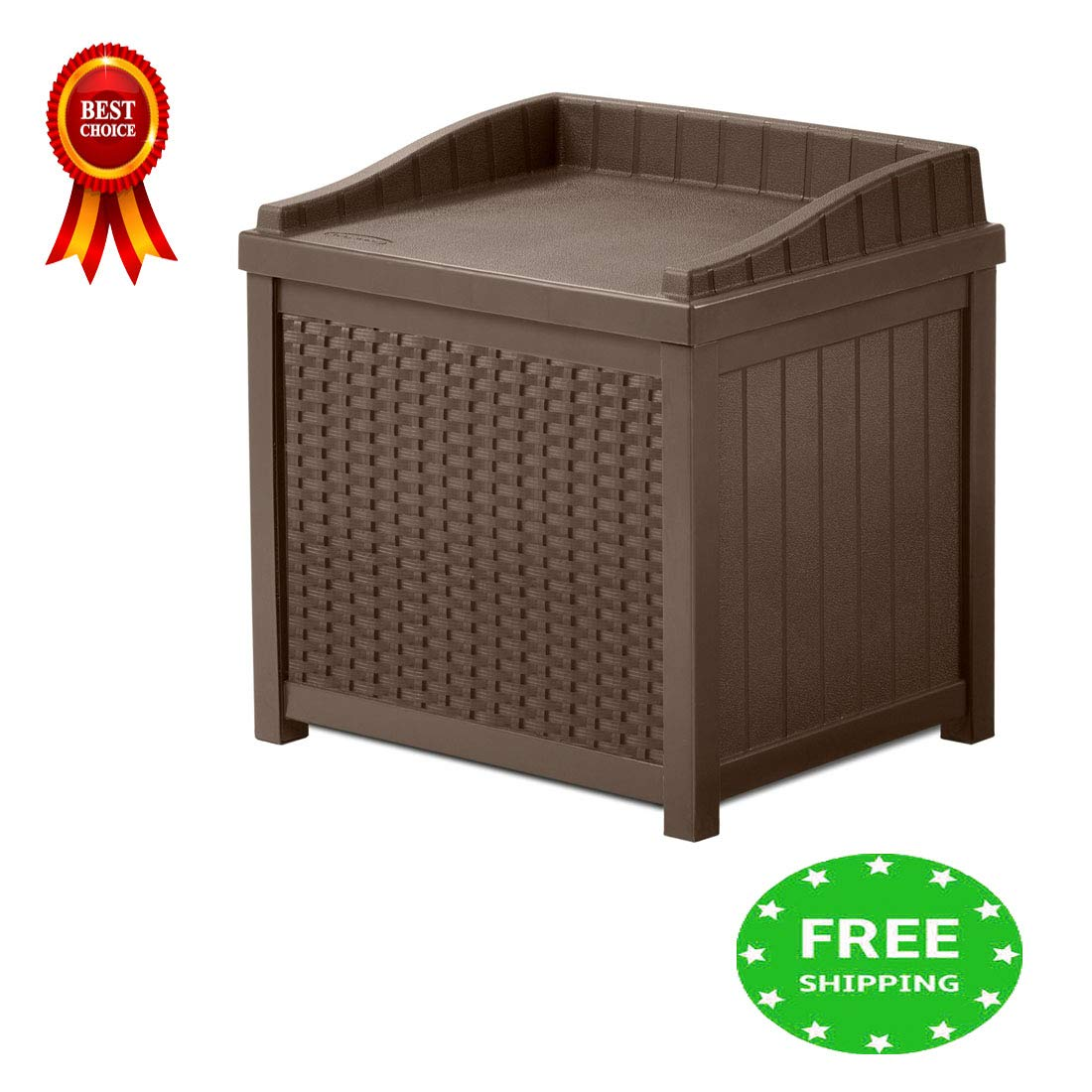 Patio Storage Cabinet Coffee Table 22 Gallon Storage Box Waterproof Durable & Sitting Bench for Indoor Outdoor Garden Backyard Home Furniture Container Weather Resistance & e-book by jn.widetrade.