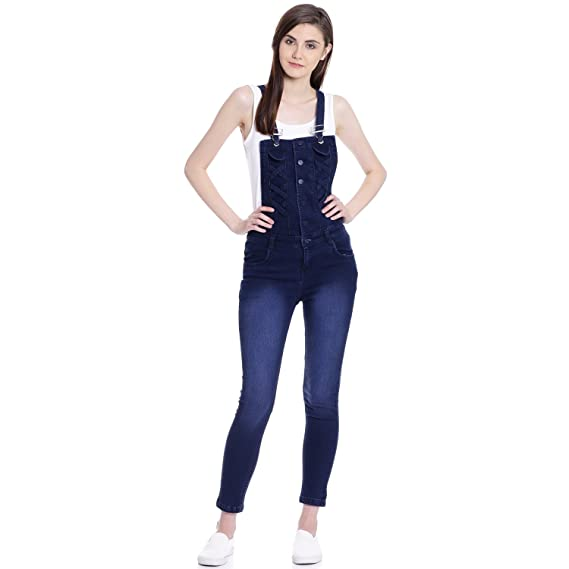 8e01804ecf6 Broadstar Women s Denim Dungaree  Amazon.in  Clothing   Accessories
