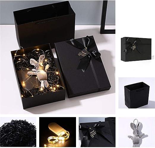 Gsej-cajas para regalos Caja de Regalo Fina Rectangular Negra ...