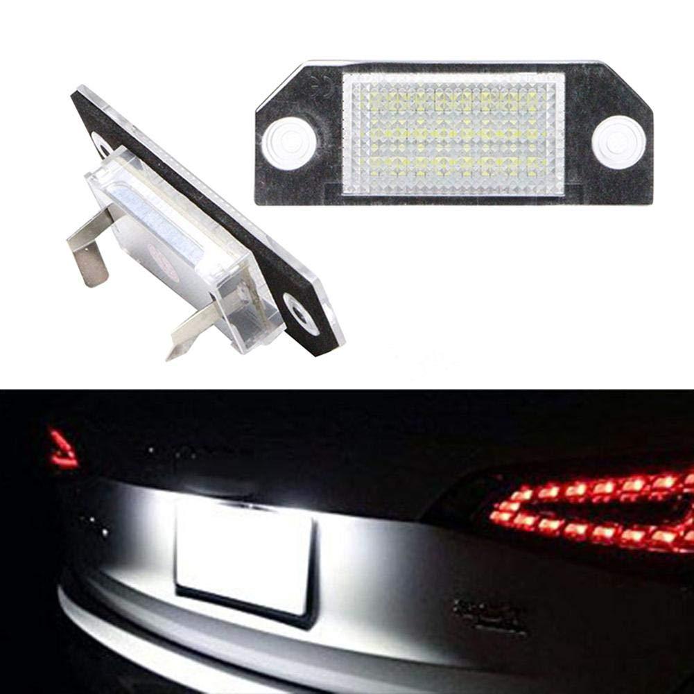 ahomi 2er LED Kennzeichenbeleuchtung Kennzeichenbeleuchtung f/ür Ford Focus C-MAX MK2