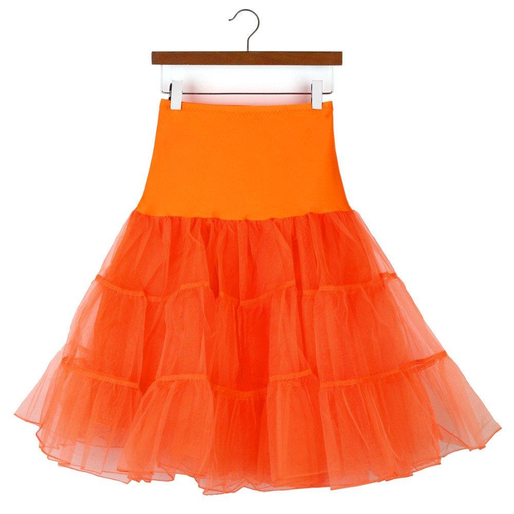 Mrulic Damen Petticoat Unterrock Petticoat Underskirt F U R