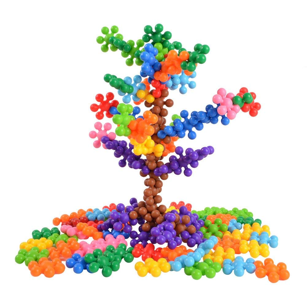 BOHS 120 PCS Click Connect Interlocking Solid Plastic Building Blocks Set STEM Educational Toy for Preschool Kids Boys and Girls,Age 4+,Gift Bag with Ribbon for Free
