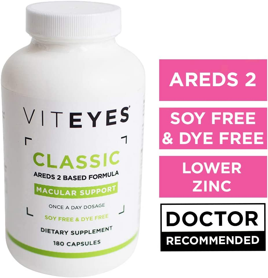VITEYES AREDS 2 Capsules, Promotes Eye Health and Protects Vision, 180 Count – Single Daily Dose Eye Vitamin