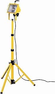 Bachmann 722.009 - Faretto alogeno mobile con cavalletto, cavo: 2 m, colore: Giallo